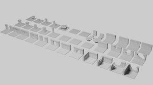 3D printable gaming dwarf fort