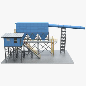 3D industrial element 3 model