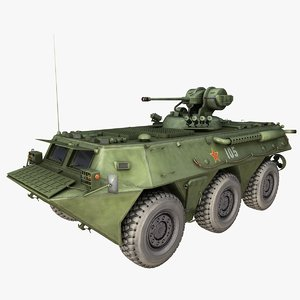 chinese zsl92 25mm gun 3D model