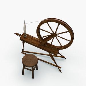 old textile machine 3D model