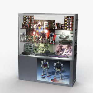3D toy figure display cabinet