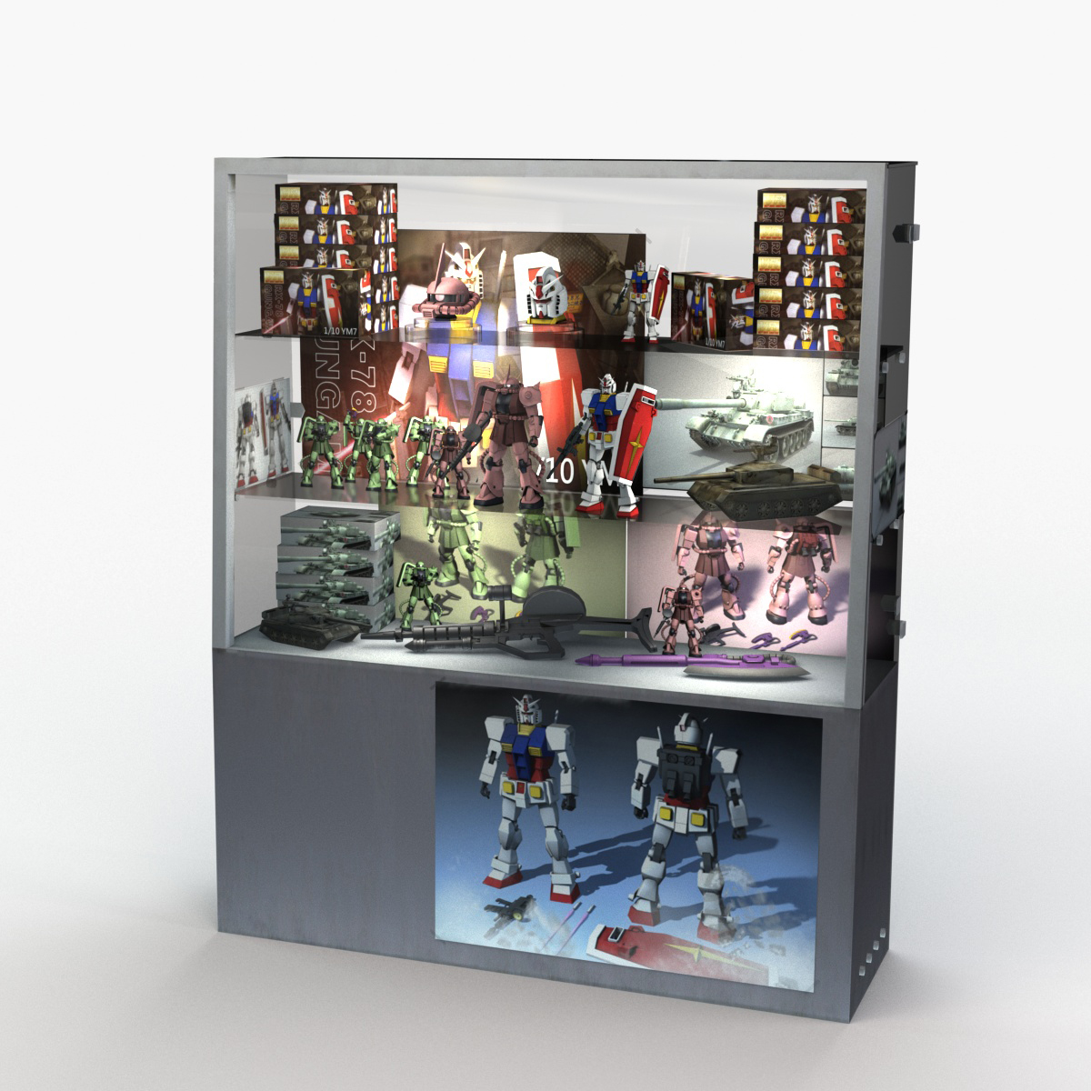 3d Toy Figure Display Cabinet Turbosquid 1512426