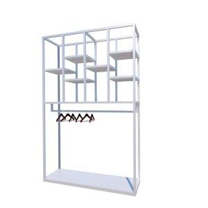 3D white hanger model