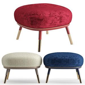 3D model stool sabrina