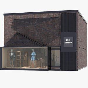 3D clothing store scene