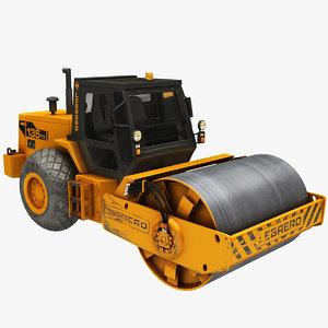 3D realistic steamroller model