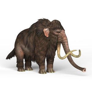 3D model mammoth elephant