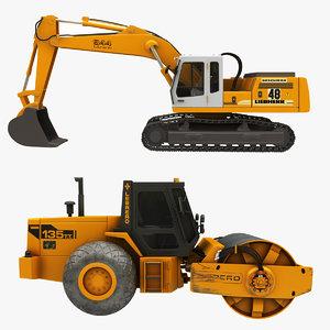 crawler excavator steamroller model