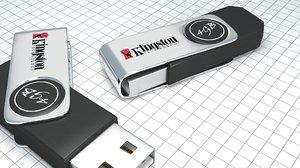 flashdrive electronics 3D