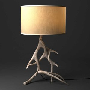 3D table lamp natural antler