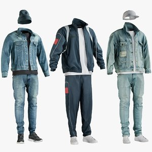 realistic casual sport clothing 3D