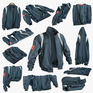 3D realistic sport jacket 1 model