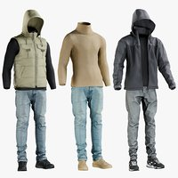 realistic casual clothing jacket 3D model