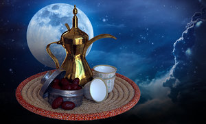 dallah coffee pot dates 3D model