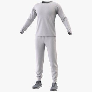 3D realistic sportswear suit clothing