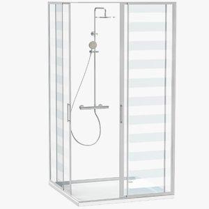 shower cabinet 3D