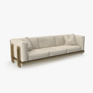 3D seater beige sofa