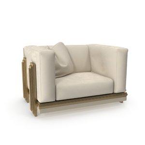 3D beige armchair