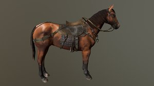 3D medieval horse