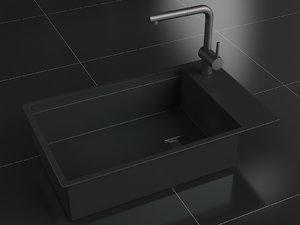 franke kubus granit nero model