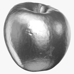 3D ambrosia apple 02 silver