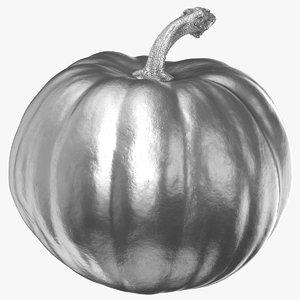 pumpkin 02 silver 3D