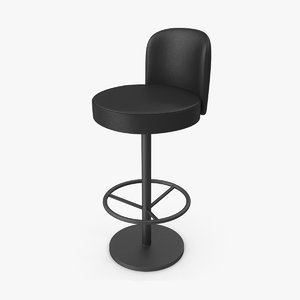 3D black leather chair