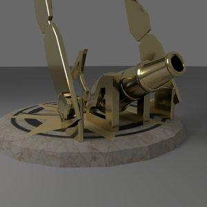 cannon dial 3D model