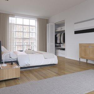 realistic interior corona 3D model