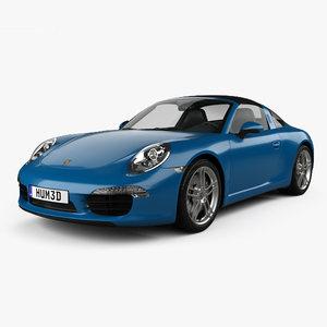 3D porsche 911 targa model