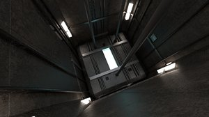 3D elevator lift model