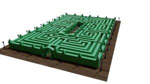 hedge maze model