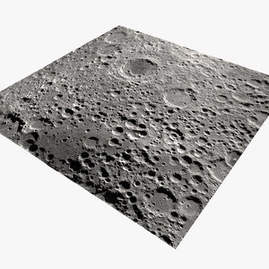 3D moon surface