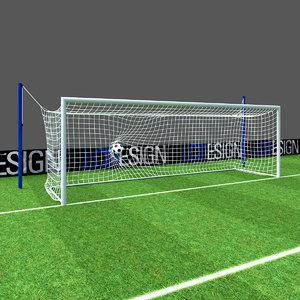 3D dynamic goal football pitch