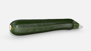 3D vegetable zucchini - photoscanned model