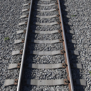 railway path 3D model