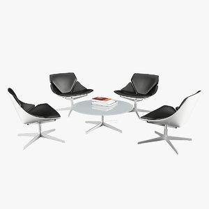 3D space lounge chair fritz hansen