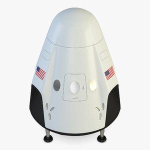 space shuttle dragon 3D model