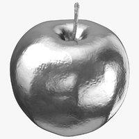 3D sweet apple 01 silver