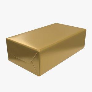 wrap butter foil 3D