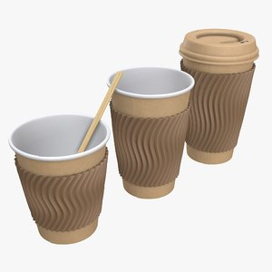 cup coffee paper 3D model