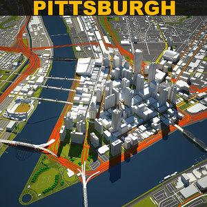 3D pittsburgh skyline model