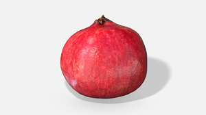 3D fruit pomegranate - photoscanned