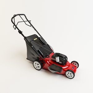 3D grass lawn mower model