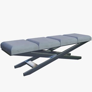 divan metal fabric 3D