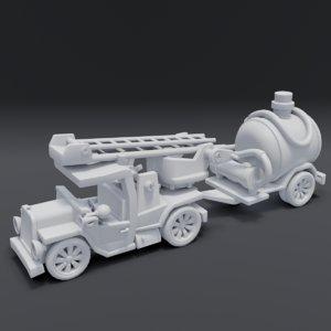 cartoon truck games 3D model