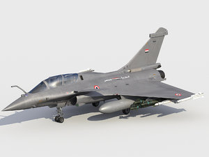 3D dassault rafale egyptian scheme model