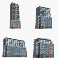 64 sherbourne buildings 3D model