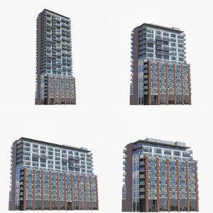 64 sherbourne buildings 3D model