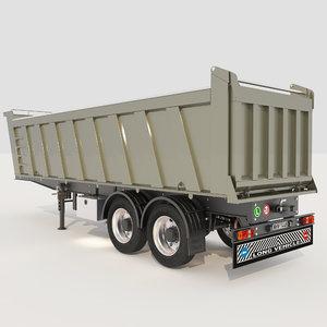 axle tipper trailer 3D